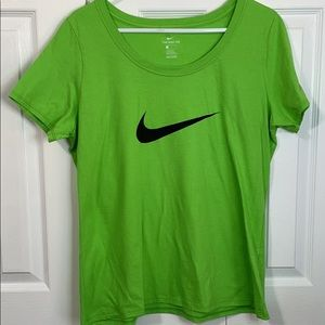 New without tags Nike Lime tee shirt Large